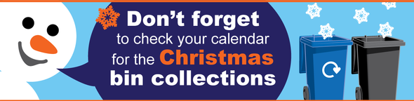 Christmas bin collections advert