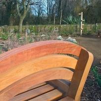 Bench in the quiet garden