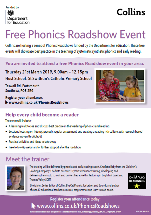 Free Phonics Roadshow Event