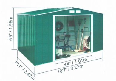 Diagram of shed