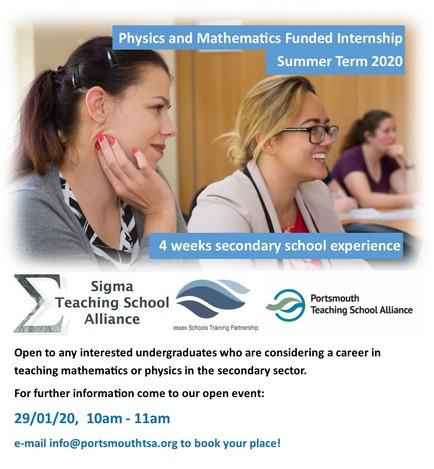 Internship Open Event Flyer 2020