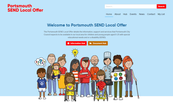 Portsmouth Local Offer website