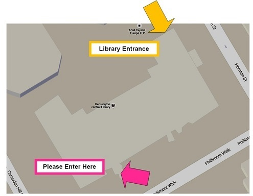 Lecture theatre directions map