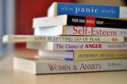 Self-help book tower
