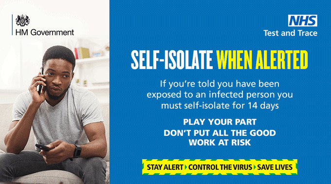 Self isolate when alerted