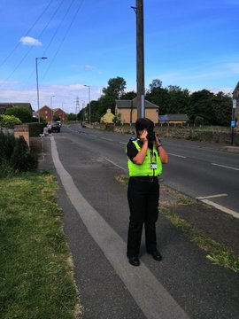 Speed check in Wingfield ward