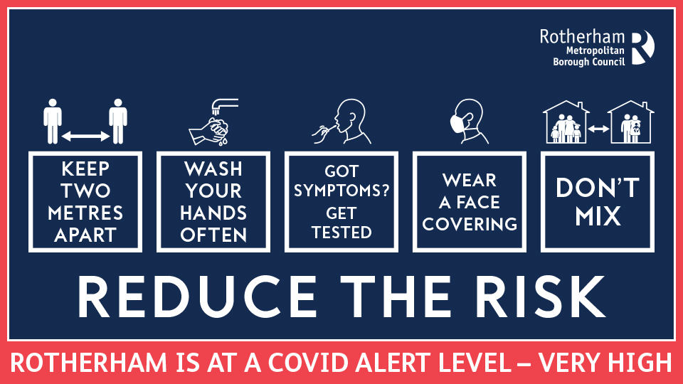 Reduce the Risk - Covid alert level: very high