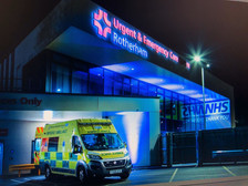 Rotherham hospital at night