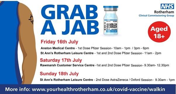 Grab a Jab 16 July