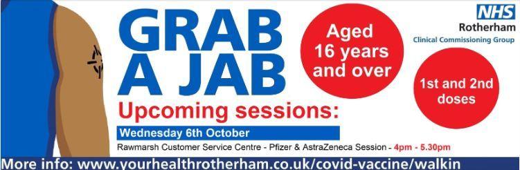 Grab a jab - 6th October