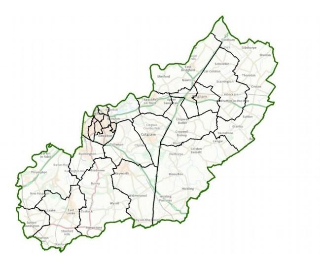 Rushcliffe Map
