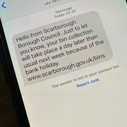 Picture of text message