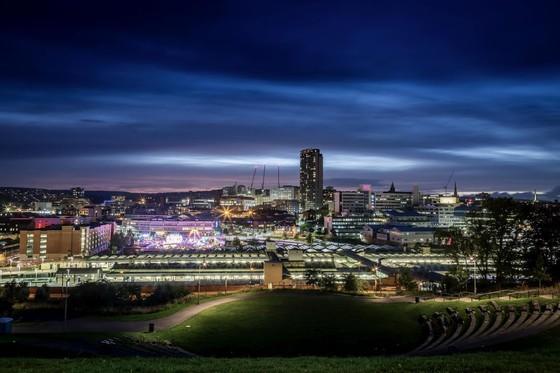 XuDong credit - Sheffield skyline at night