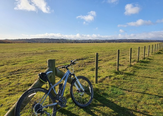 Shirebrook Valley view with bike cycling