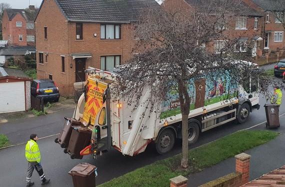 bin lorry waste