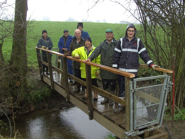 P3 Ramblers testing the new bridge