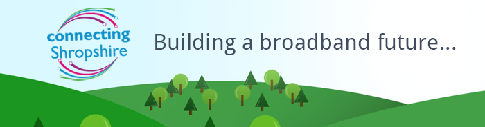 connecting shropshire broadband banner