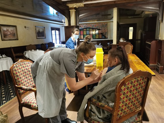 Covid 19 vaccination at The Prince Rupert Hotel, Shrewsbury for homeless and rough sleepers