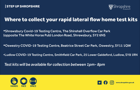 Where to get collect your home testing kits