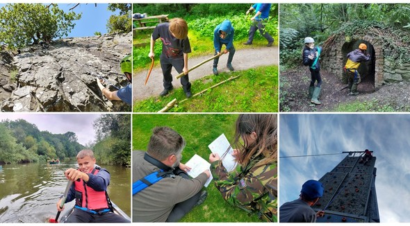series of photographs of Young Ranger activities