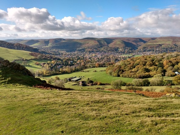 view of the Shropshire Hills countryside