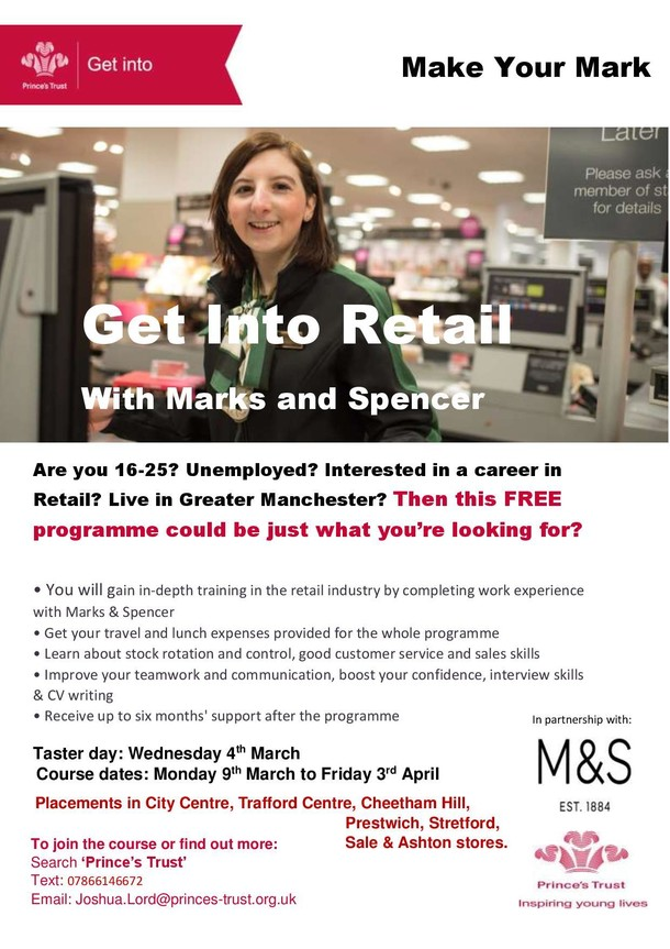 Get Into Retail flyer