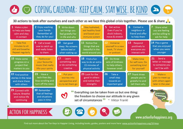 wellbeing calendar