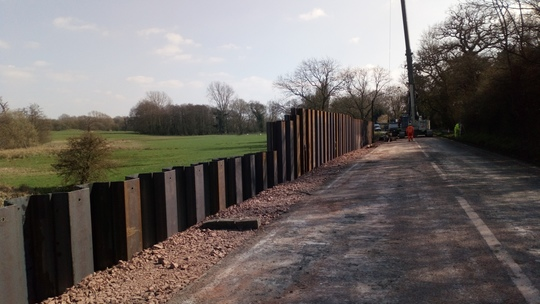 A452 retaining wall