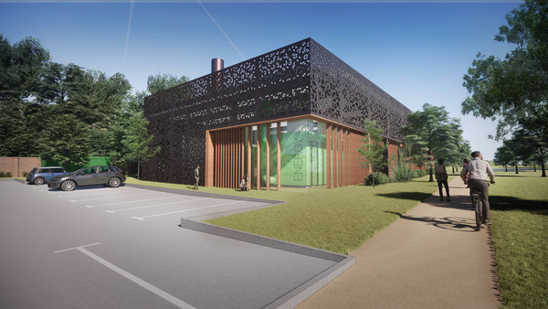 Proposed design for Solihull Low Carbon Energy Centre
