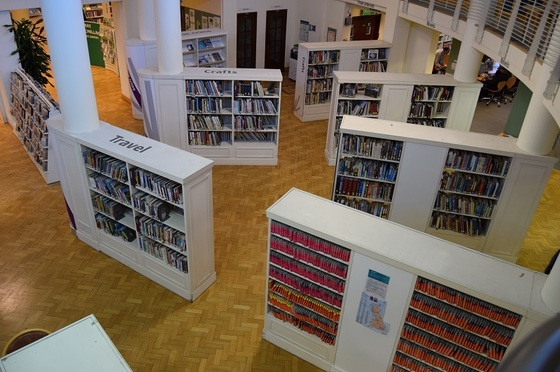 Libraries - Library - Books - Shelves - Central
