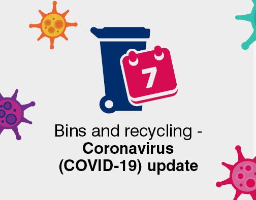 Bins and recyling coronavirus