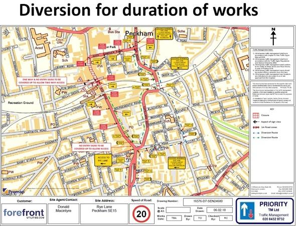 rye lane 1 diversion