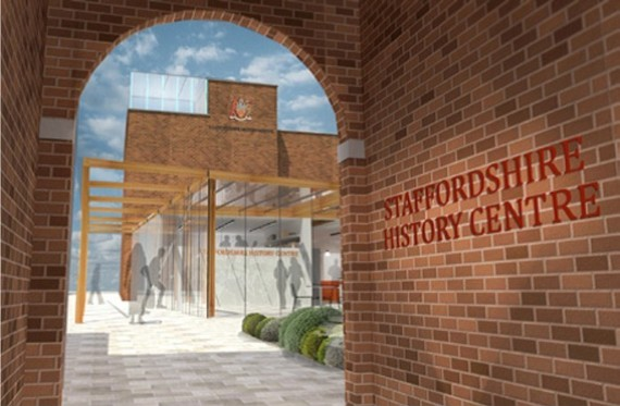 Artists impression of the entrance to the Staffordshire History Centre