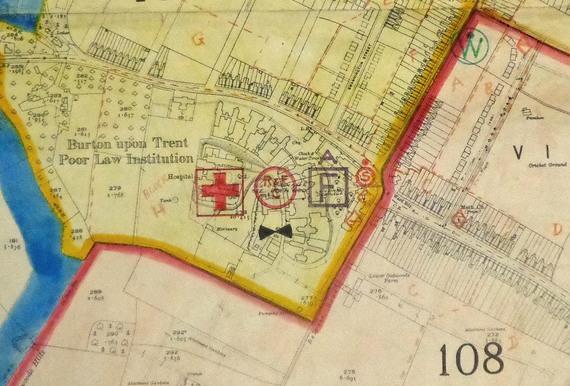 Burton upon Trent Civil Defence Map