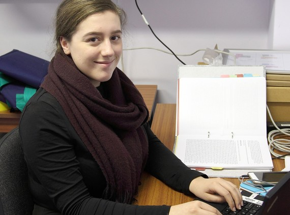 Placement student Liberty Smith at work