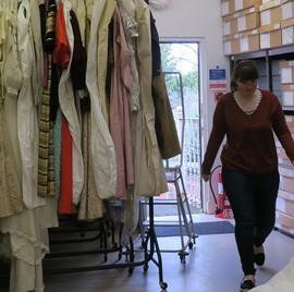 Moving the historic dress and textile collections at the County Museum
