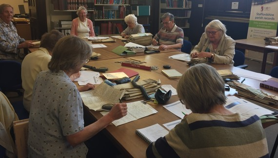 Place name volunteers at Lichfield Record Office