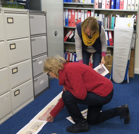 Val and Jean researching the Retail Revisited exhibition