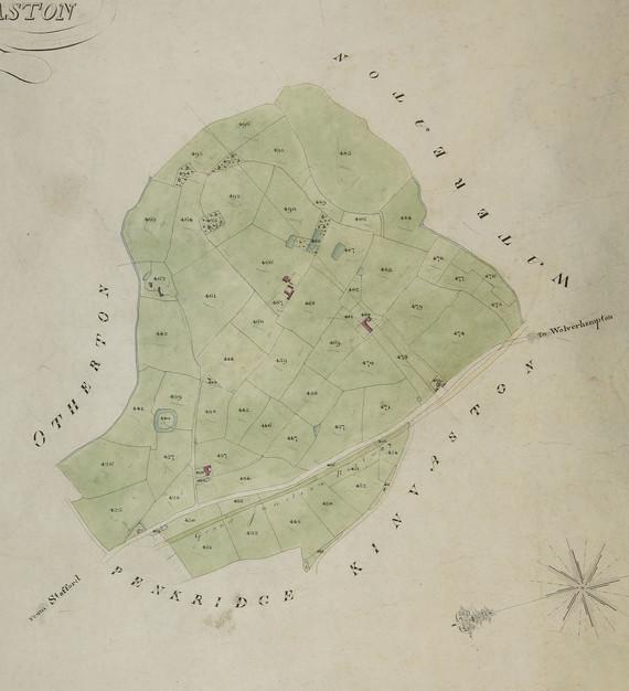 Penkridge Tithe Map D4787-D-1A