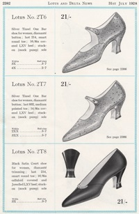 Advertisement for Lotus Shoes