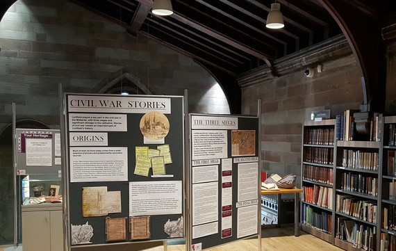 Example of a previous exhibition at the History Access Point