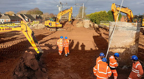 Image of ongoing construction work at Lichfield Southern Bypass site