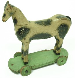 Wooden horses 1940s