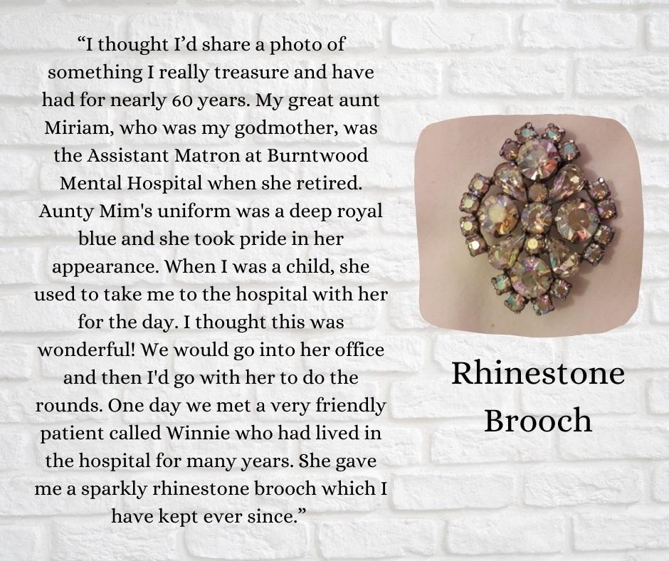 Rhinestone Broach