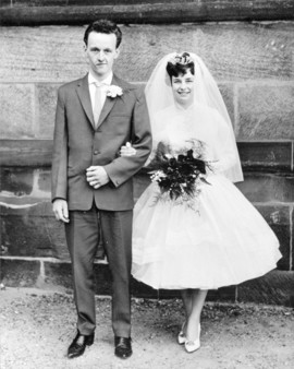 Wedding Couple, Uttoxeter, 1950s