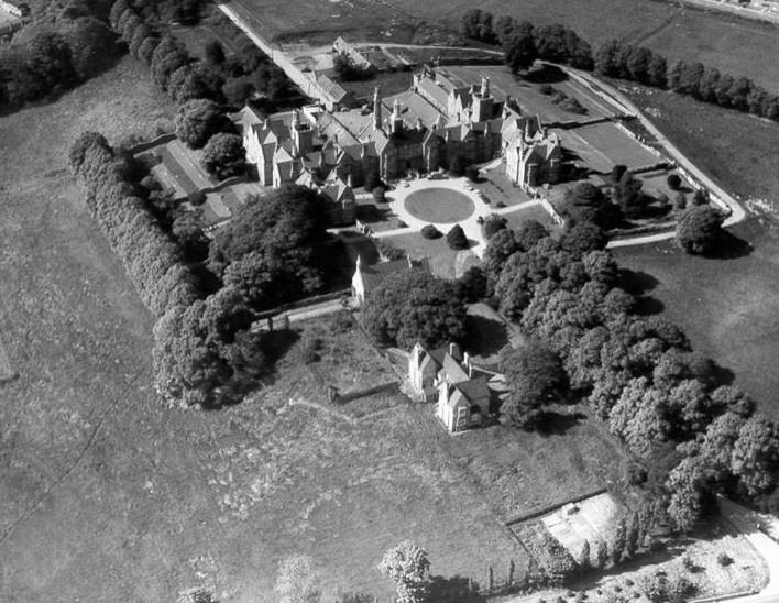 Coton Hill Asylum from the Air