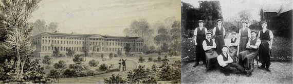 Stafford Asylum Grounds and Group of Gardeners