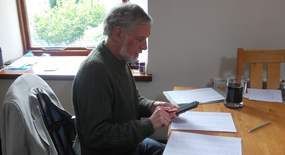 Andrew George working on the Wills Index