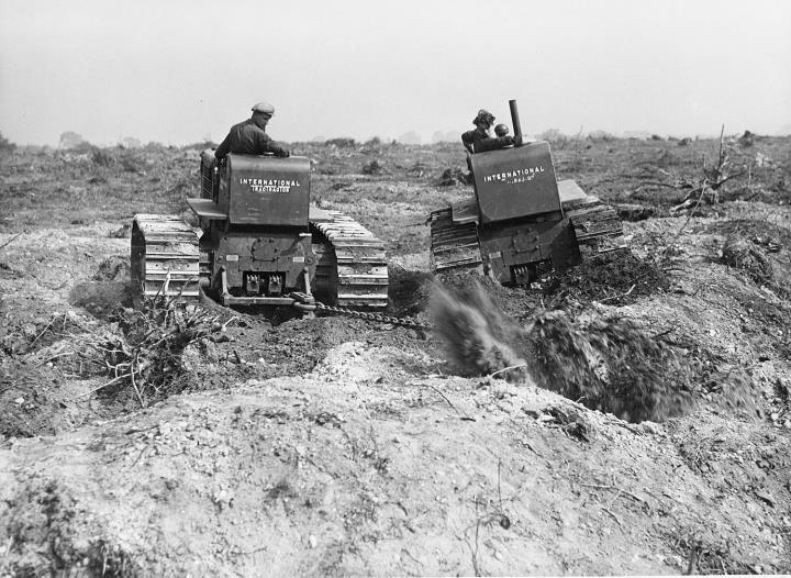 Tractors at Hamstall Ridware