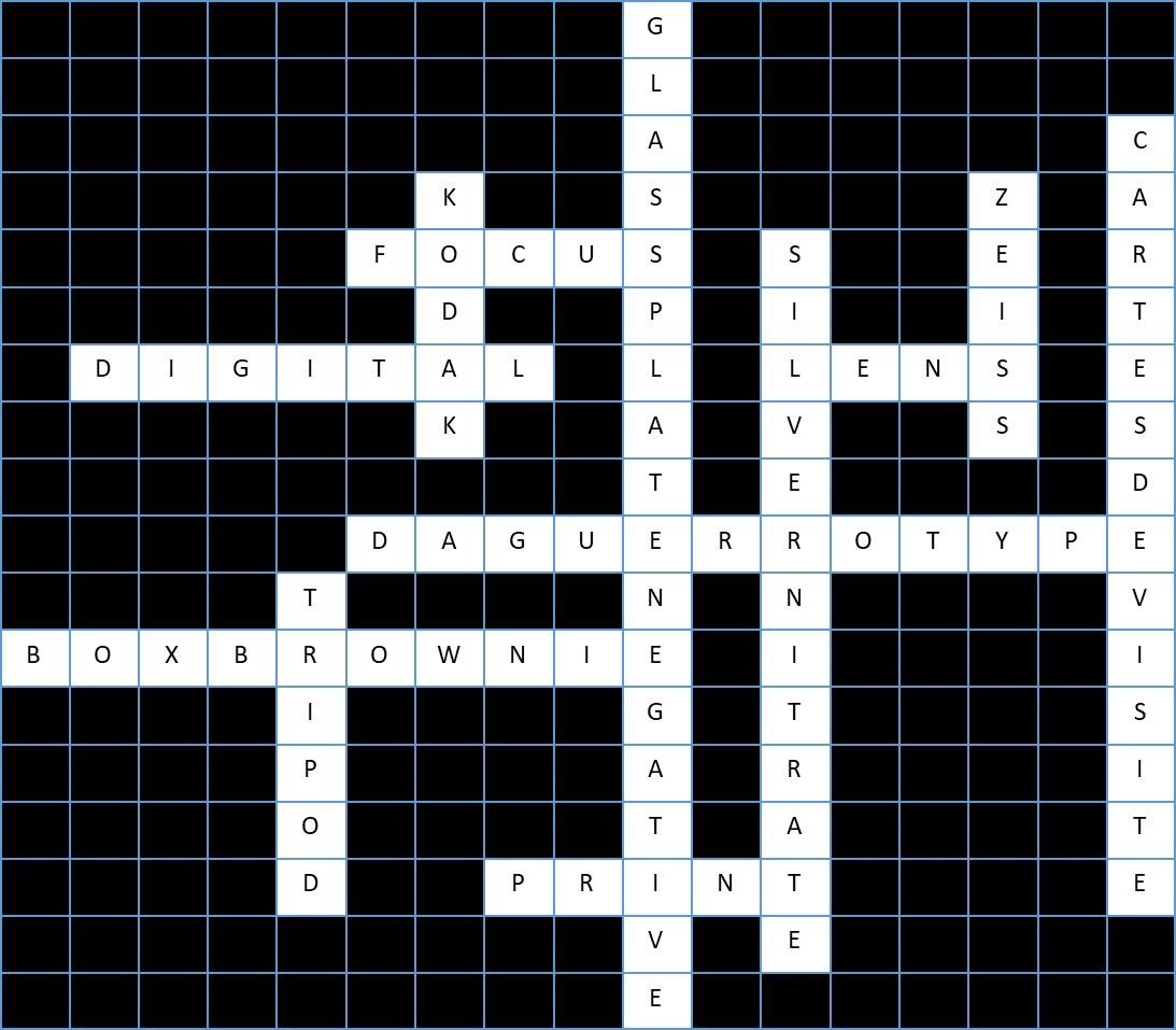 Photography Crossword Solution